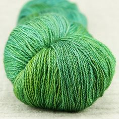 sea green $29.60 FYBERSPATES GLEEM LACE  Made from 55% Bluefaced Leicester and 45% silk with a generous 800m per 100g, this yarn is hand dyed in shimmering complimentary tones, making it perfect for giving special lace projects a 'wow' factor.