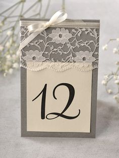 USE RAFFI AND NO LACE FOR LESS ELEGANT LOOK Table numbers at For Love Polka Dots www.4lovepolkadots.com/
