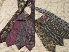 Cooler Men - Upcycled Purse from Vintage Ties Mens Neckties Necktie Purse, Necktie Quilt, Sacs Tote Bags, Old Ties, Tie Crafts, How To Make Clothes, Clothes Crafts, Diy Clothing, Refashion
