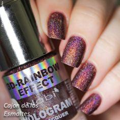 Esmaltes holográficos Nabi 3D Rainbow
