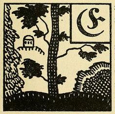 Illustrated initials from a German fairytale book (1919)