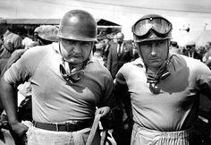 José Froilan Gonzalez & Juan Manuel Fangio, Maserati A6GCM, British Grand Prix 1953 (Silverstone)