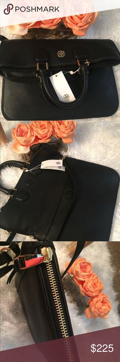 🆕🖤TORY BURCH MESSENGER BAG🖤 The epitome of understated chic, the Robinson Pebbled fold-Over Bag is as polished as it is practical. It can be worn multiple ways: across the body with a strap, carried as a top-handled bag, or used as an oversized clutch. Made of super soft, richly textured leather, the versatile design is finished with a zip-around gusset that allows for some extra room. It has an interior zippered pocket, and two open. Adjustable/removable strap. Comes with dust bag.   NO…