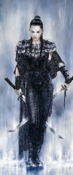 Female samurai by Luis Royo Foto Fantasy, Fantasy Anime, 3d Fantasy, Fantasy Women, Fantasy Girl, Fantasy Artwork, Dark Fantasy, Warrior Princess, Warrior Girl