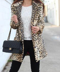 Love the outfit idea not big on fur coats.... Too cruella devil for me