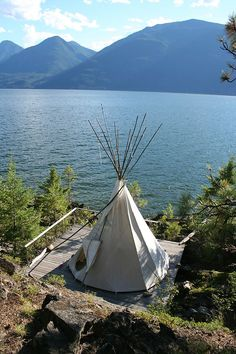 In three days I'll be off to Tipi camp ~ all by my lonesome self! We use to go to Tipi camp for a yoga retreat as a family but this time Mama's on her own. Tenda Camping, Teepee Camping, Outdoor Camping, Teepee Tent, Campsite, Zelt Camping, Cabin Tent, Camping Life, Camping Kitchen