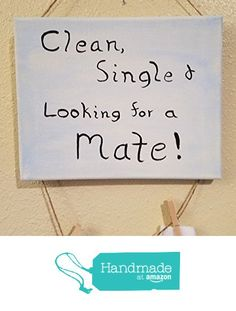 Clean, Single and Looking for a Mate Hand Painted Laundry Sign for single socks 8X10 from Risen Son Creations https://www.amazon.com/dp/B06XZGNQGJ/ref=hnd_sw_r_pi_dp_xEOczbY5242S5 #handmadeatamazon