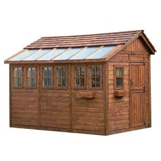 Outdoor Living Today Sunshed 8 x 12 ft. Garden Shed - The Outdoor Living Today Sunshed 8 x 12 ft. Garden Shed is a perfect c. Wooden Storage Sheds, Storage Shed Kits, Outdoor Storage Sheds, Outdoor Sheds, Outdoor Spaces, Backyard Storage, Firewood Storage, Storage Systems, Tool Storage