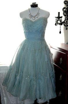 vintage 60's prom dress