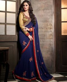 https://www.a1designerwear.com/contemporary-royal-blue-georgette-saree