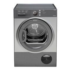 Hotpoint Aquarius Tumble Dryer, TCFS73BGG, 7KG Load, Graphite