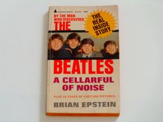 The Beatles - A Cellarful of Noise - Brian Epstein - Pyramid First Paperback Edition R-1200 1965 - Vintage Book - Beatles Photos by notesfromtheattic on Etsy