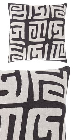 Give your patio furniture new meaning with our Petroglyph Outdoor Toss Pillow. Crafted from durable linen and with a bold pattern that makes mixing and matching a breeze, it's effortless style that nee...  Find the Petroglyph Outdoor Toss Pillow - Black, as seen in the #TheUrbanNomad Collection at http://dotandbo.com/collections/theurbannomad?utm_source=pinterest&utm_medium=organic&db_sku=119093