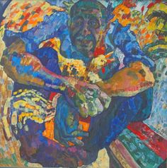 "Saatchi Art Artist Inna Kulagina; Painting, ""Roosters, rooster...."" #art"
