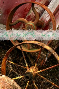 Love old rusty wheels!