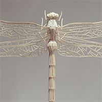 Kyle Bean makes some pretty awesome things...this dragonfly being one of them. Made entirely from toothpicks.