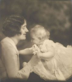 The Duchess of York and Princess Margaret by The British Monarchy, via Flickr-The Duchess of York (later Queen Elizabeth The Queen Mother) with Princess Margaret, 22 June 1931 by Marcus Adams