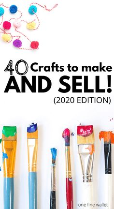 Over 40 Crafts you can make and sell for profit. Including where to sell handmade things locally and how to sell crafts online Over 40 Crafts you can make and sell for profit. Including where to sell handmade things locally and how to sell crafts online Diy Gifts To Sell, Easy Crafts To Sell, Crafts For Teens To Make, Diy Crafts For Gifts, Handmade Crafts, Crafts For Kids, Sell Diy, Craft Ideas To Sell Handmade, Cool Gifts For Teens