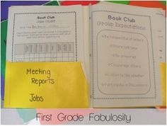 first grade book club - Google Search