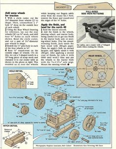 #2879 Wooden Tractor Plans - Wooden Toy Plans