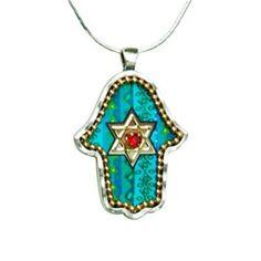 Hamsa Pendant with Star of David by aJudaica