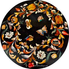 "Pietra Dura ~ a decorative art using cut and fitted, highly-polished colored stones to create images. It is a technique developed from the Ancient Roman, opus sectile, used on floors and walls. Largely used during Middle Ages and Italian Renaissance this technique also was used for images.The Florentines most fully developed the form of pietra dura and regarded it as 'painting in stone'. It is stated that Domenico Ghirlandaio ""dubbed the medium 'Pittura per l'eternità' or painting for…"