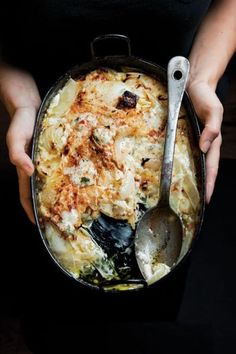 Sweet, translucent roasted onions marry beautifully with the béchamel and Gorgonzola in this rich casserole.