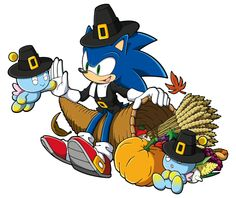 sonicthehedgehog:  Happy Thanksgiving, Tumblr!  Today, we're excited to show you this shiny new hi-res Sonic art for the Holiday. Thank you all for being such amazing fans. Go eat all the things today!