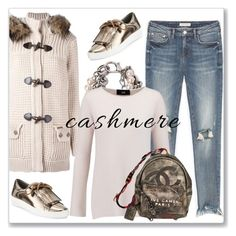"""""""Cozy Cashmere Sweaters"""" by andrejae ❤ liked on Polyvore featuring Bark, MICHAEL Michael Kors, Moschino, Line, Chanel, polyvoreeditorial, cashmere and polyvorecontest"""