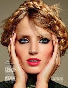 black eyeliner beauty Fanny Francois by Dusan Reljin for Allure Russia October 2015