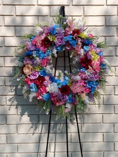Floral Farmhouse Wreath for Front Door, Floral Arrangement, Spring Wreath, Summer Wreath, Front Door Wreath, Floral Home Decor, Door Decor Bright Spring, Spring Colors, Different Holidays, Floral Wall, Handmade Home Decor, Wreaths For Front Door, Wall Art Decor, Floral Arrangements, Etsy Seller