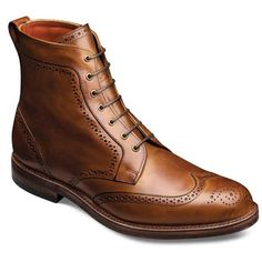 Tomboy Tailors LOVES these Dalton Wingtip Lace-up Oxford Men's Dress Boots--a best seller in our store. Available at Tomboy Tailors' on-line store starting October 25, 2013. Tucked under blue jeans or a blue suit, this gorgeous 7-eyelet blucher boot perfectly presents a stylish profile. Available in Walnut (shown) made-to-order in dark chocolate. Starting in U.S. Men's size 7-D 6.5 E. Please allow 8 weeks ordering time if the size requested isn't immediately available.
