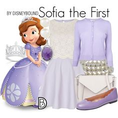 Sofia the First by leslieakay on Polyvore featuring River Island, L.K.Bennett, French Sole FS/NY, French Connection, Honora, Finesque, Sterling Essentials, Accessorize, disney and disneybound
