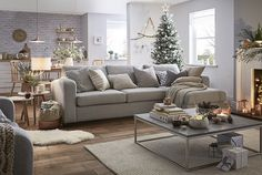 Why everyone needs a sofa bed at Christmas! Cosy Lounge, Lounge Decor, Lounge Ideas, Dfs Sofa, Sofa Bed, Christmas Lounge, Cosy Christmas, Beautiful Sofas, Houses