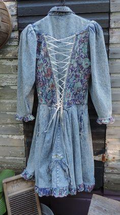 Gypsy Cowgirl Denim Dress http://www.victoriantailor.com/#!clothing/c1hpk