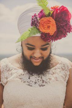 Flower Beard Bridals with Harnaam Kaur