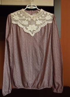 Kup mój przedmiot na #vintedpl http://www.vinted.pl/damska-odziez/bluzki-z-dlugimi-rekawami/10572541-stradivarius-bluzka-w-drobne-kwiatki-dekolt-koronka-azurowy-haft-rozm-l