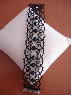 Lace Bracelet, Bracelets, Bobbin Lace Patterns, Lace Heart, Lace Jewelry, Needle Lace, Lace Detail, Fiber Art, Tatting