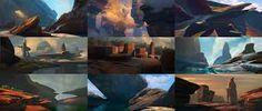 Resultado de imagen de sketch landscape concept art