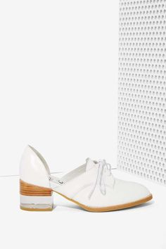 6f35b68c2028 Jeffrey Campbell Radwell Cutout Leather Oxford White Oxford Shoes