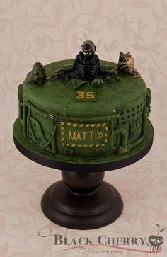 Alien Xenomorph Cake (Commission) « Little Cherry Cake Company