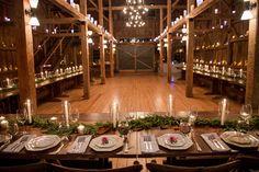 u shaped reception table setup