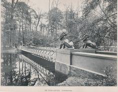Berlin ca.1905 im Tiergarten die Loewenbruecke