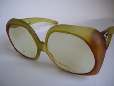 Christian Dior Big Glass Frame Yellow Brown by CavalierDreams