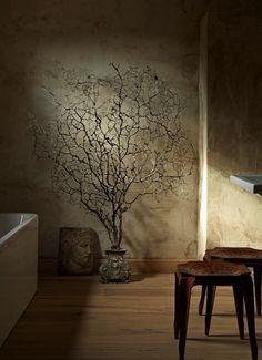 Originally for the Japanese aesthetic wabi-sabi. Explore tags: what is wabi-sabi? Wabi Sabi, Asian Home Decor, Cheap Home Decor, Casa Wabi, Estilo Interior, Rustic Home Interiors, Deco Boheme, Japanese Aesthetic, Japanese House