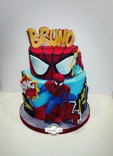 Spiderman - cake by manuela scala Spiderman Birthday Cake, Baby Boy Birthday Cake, Buttercream Birthday Cake, Just Cakes, Cakes For Boys, 4th Birthday Parties, Pastries, Birthdays, Mary