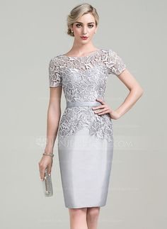 6dfb81f4947 Short Sheath 3 4 Sleeves Cocktail and Party Dress - Jessica Howard   galacocktaildress