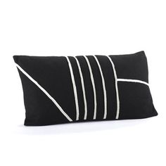 Linear Pillow Black White, $48, now featured on Fab.