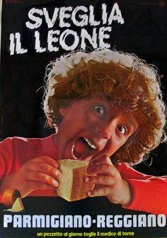 Parmigiano Reggiano: sveglia il leone! #parmesan #vintage #adv #food #italianfood