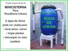 Como criar uma Mini Cisterna com água da chuva para residências urbanas